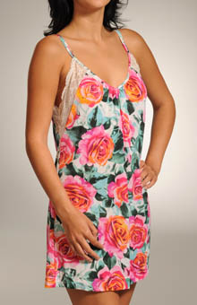 Rose Garden Swing Nightie with Lace