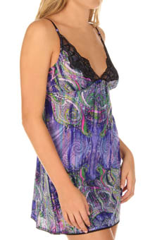 Venetian Glass Nightie With Shimmer Lace