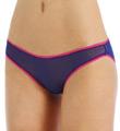 Color Contrast Mesh Low Rise Hip Bikini Panty Image