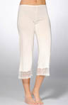 Venice Cropped Pants with Lace Hem