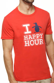 Original Penguin Penguin Happy Hour Crewneck Graphic Tee