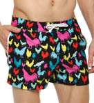 Original Penguin Fixed Waist Printed Roosters Swim Short FRS0033
