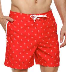 Fixed Volley All Over Penguin Swim Short