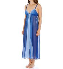 Oscar De La Renta Tranquil Sky Long Gown 680607