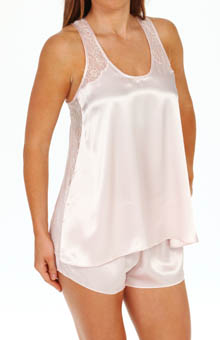 Oscar De La Renta Sweet Poetry Solid Charmeuse Nightie