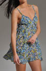 Forget Me Not Printed Georgette Chemise