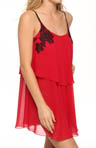 Oscar De La Renta Lovely in Lace Double Ruffle Chemise 682486