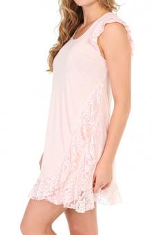 Oscar De La Renta Playful Lace Cap Sleeve Chemise 683658