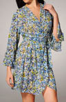Forget Me Not Printed Georgette Robe