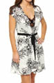 Oscar De La Renta Twilight Garden Short Robe 684581