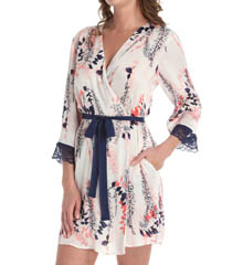 Oscar De La Renta Misty Shadow Short Robe 684750