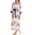 Oscar De La Renta Misty Shadow Long Robe 685750