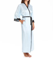 Oscar De La Renta Solid Charmeuse Long Robe 685837