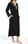 Oscar De La Renta Velvet Night Long Zip Robe 686652