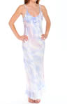 Oscar De La Renta Mystic Feather Printed Charmeuse & Georgette Gown 688606