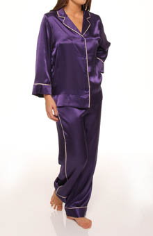 Romantic Holiday Solid Pajama Set