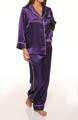 Oscar De La Renta Romantic Holiday Solid Pajama Set 689468