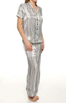 Painterly Stripe Pajama Set