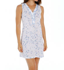 P-Jamas Blue Floral Chemise 303416