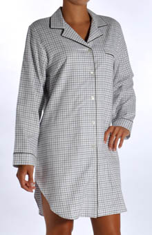 P-Jamas Maddison Flannel Sleep Shirt