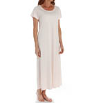 P-Jamas Butterknits Long Nightgown With Short Sleeves 375660