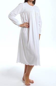 Isabel Smocked Long Sleeve Nightgown