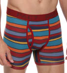 Pact San Francisco Red Stripes Boxer Brief MBBSFR