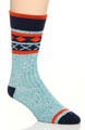 Pact Teal Camp Sock MCSTEA