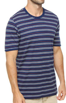 Pact Americana Stripe Crew Neck T-Shirt