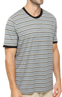 Pact Gravel Stripe Crew Neck T-Shirt