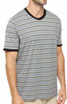 Gravel Stripe Crew Neck T-Shirt