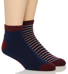 Pact Americana Shorty Socks - 2 Pack