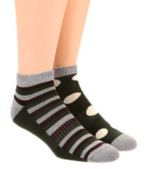 Pact Duffle Bag Fun Shorty Socks - 2 Pack