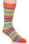 Pact All-Over Stripe Crew Sock MSKAST