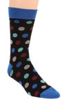Pact Blue Multi Dot Crew Sock MSKBMD