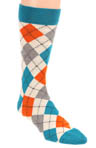 Charcoal Argyle Crew Sock