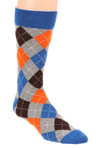 Heather Grey Argyle Crew Sock