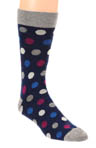 Orchid Multi Dot Crew Sock