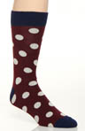 Pact Rosewood Polka Dot Crew Sock MSKROD