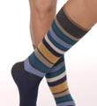Pact San Francisco Blue Stripe Crew Sock MSKSFB