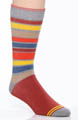 Pact Tomato Farm Stripe Crew Sock MSKTFS