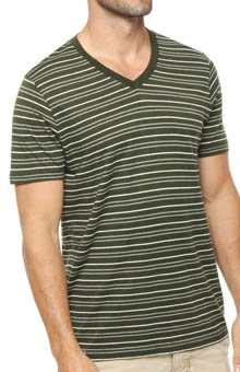 Pact Duffle Bag Striped V-Neck T-Shirt