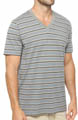 Gravel Stripe V-Neck T-Shirt Image