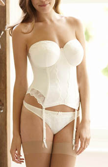 Evie Bridal Basque Bustier