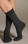Solid Rib Micro Cushion Socks
