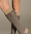 Pantherella Birdseye OTC Cotton Lisle Fancy Socks 63209