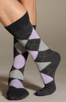 Argyle Soft Cotton Casual Socks