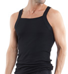 Essentials 100% Cotton Square Neck Tank - 3 Pack