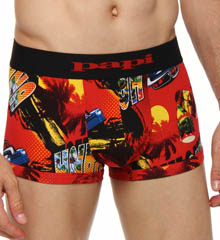 Papi Fiesta Brazilian Brief Allover Print 3 Inch Inseam