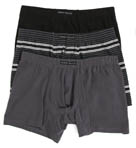 Perry Ellis Solid/Stripe Boxer Briefs - 3 Pack 960536R